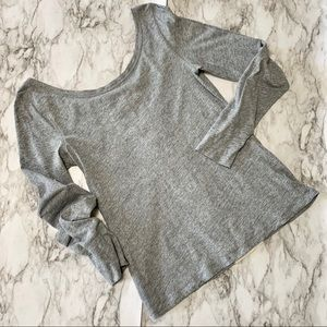 Anthropologie Weekend Gray Shirt with cutouts